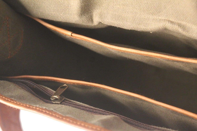 Leather Bag Laptop Satchel