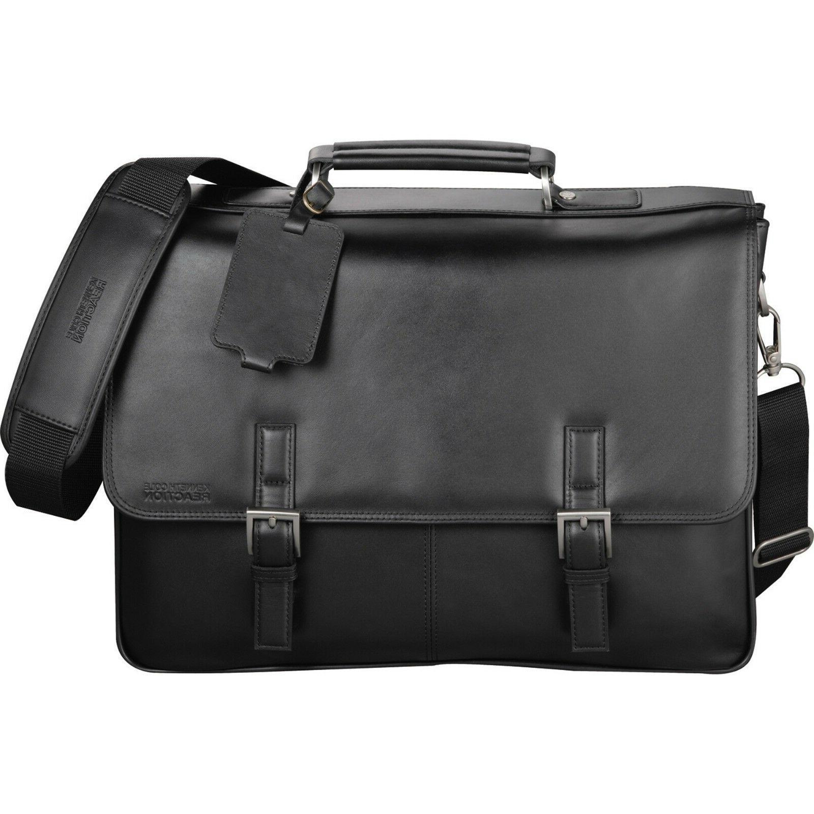 Kenneth Cole® Manhattan  Leather LAPTOP & TABLET Messenger