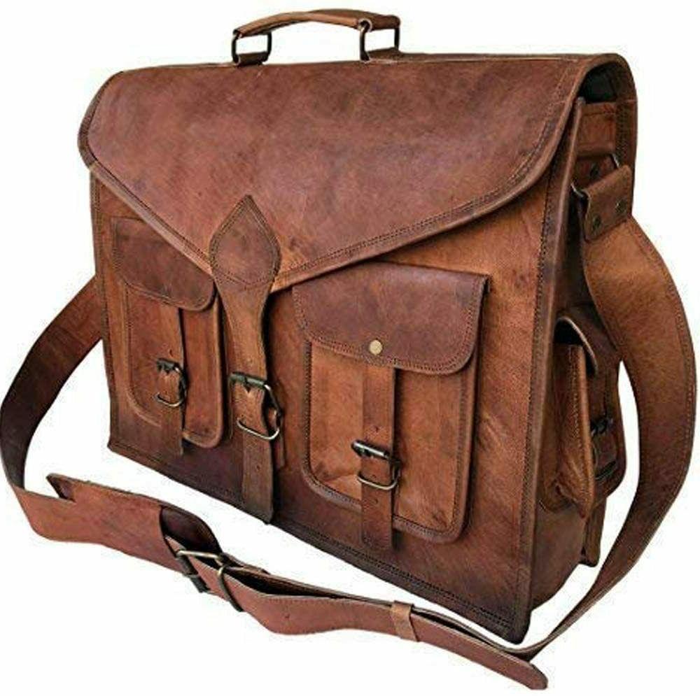 Vintage Messenger Leather Leathe