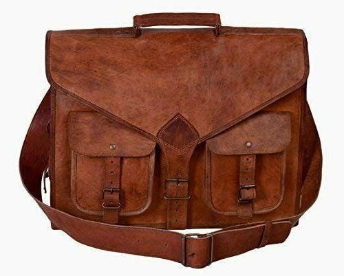 kpl 18 inch rustic vintage leather messenger