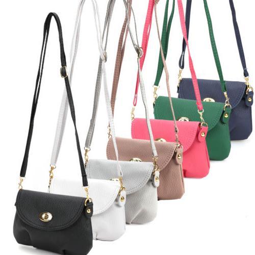 ladies small satchel leather handbag crossbody shoulder