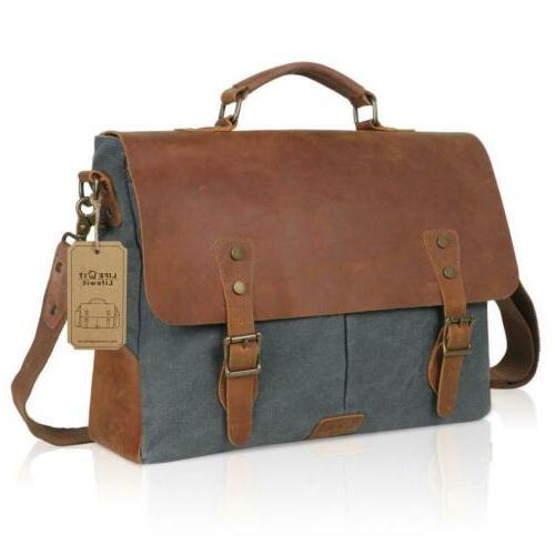 langforth genuine leather vintage laptop