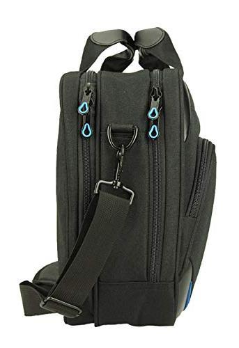 KROSER Laptop Bag Inch Laptop Messenger Water Repellent Computer Bag Durable with RFID Pockets for Business/College/Women/Men-Black/Blue
