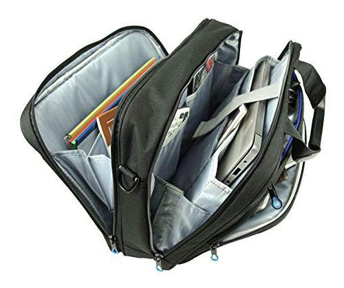 KROSER Inch Laptop Messenger Bag Water Computer Case Laptop Bag Durable with Pockets Business/College/Women/Men-Black/Blue