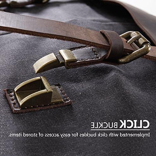 Lifewit Bag Leather Waterproof Waxed Laptop Satchel Briefcase