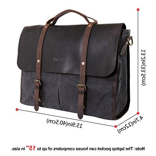 Lifewit Men's Laptop Shoulder Briefcase