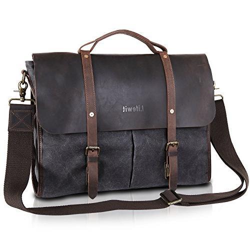 laptop bag vintage leather messenger
