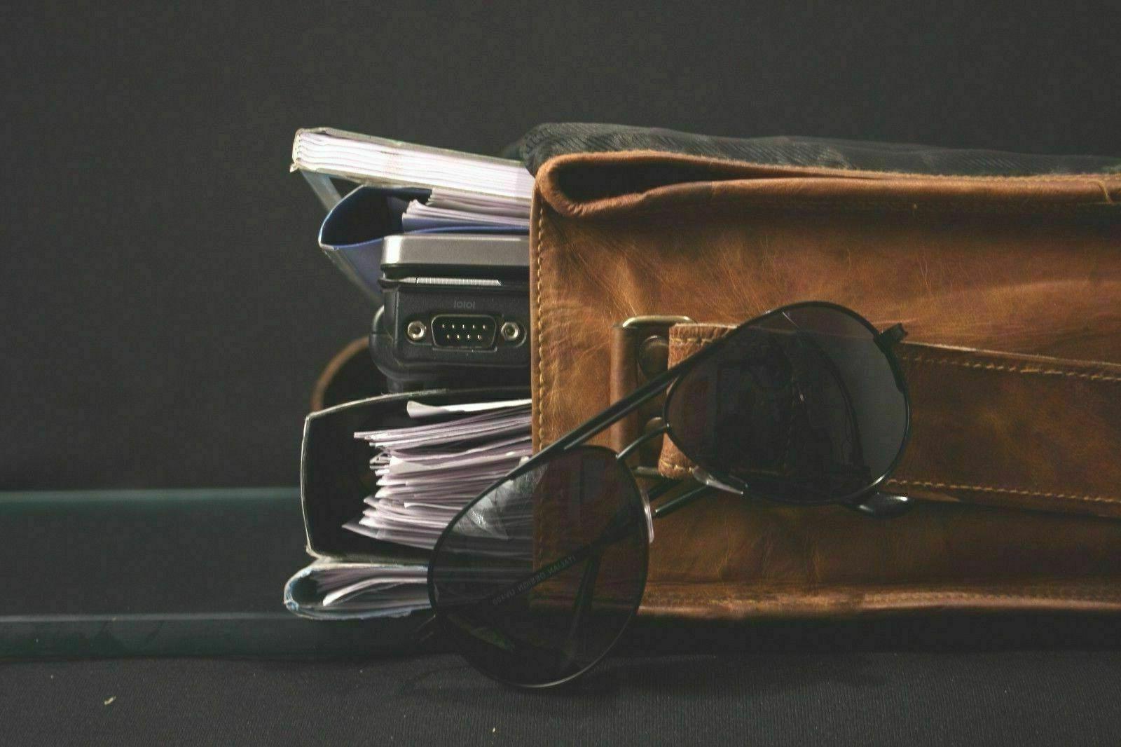 LAPTOP Bags Vintage Brown Leather SHOULDER