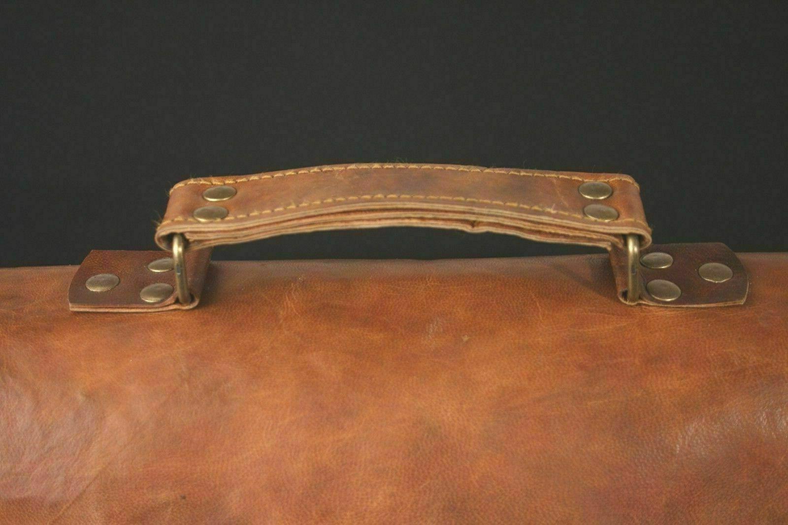 LAPTOP Bags Vintage Brown MESSENGER SHOULDER Briefcase