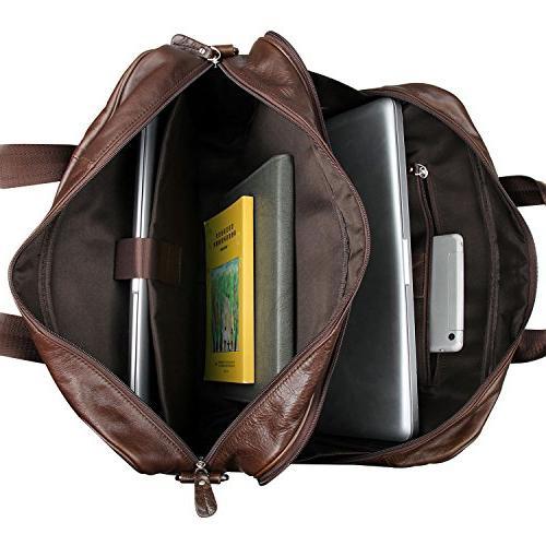 Berchirly Genuine Leather Messenge Shoulder Bags Laptop