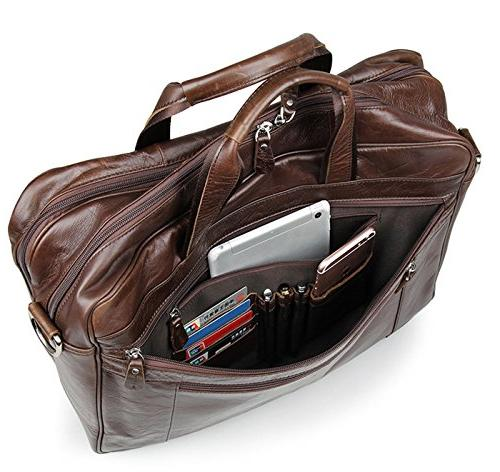 Berchirly Business Messenge Brifecase Totes Shoulder Bags fits 17-inch Laptop