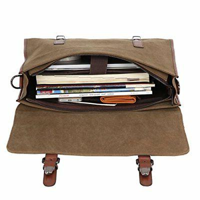 Banuce 13.3 Laptop Messenger for Vintage Canvas Bag