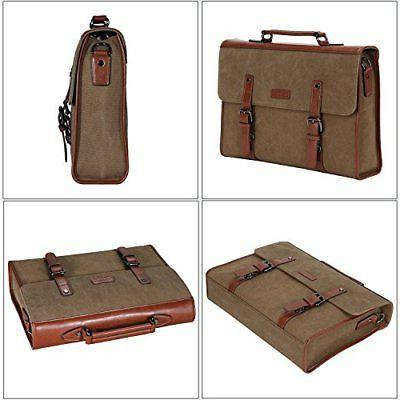 Banuce Laptop Messenger Bag for Men Vintage Canvas Tote Bag