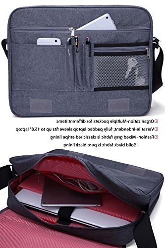 "MIER Bag For 15.6"" Shoulder Crossbody Work Pocket,"