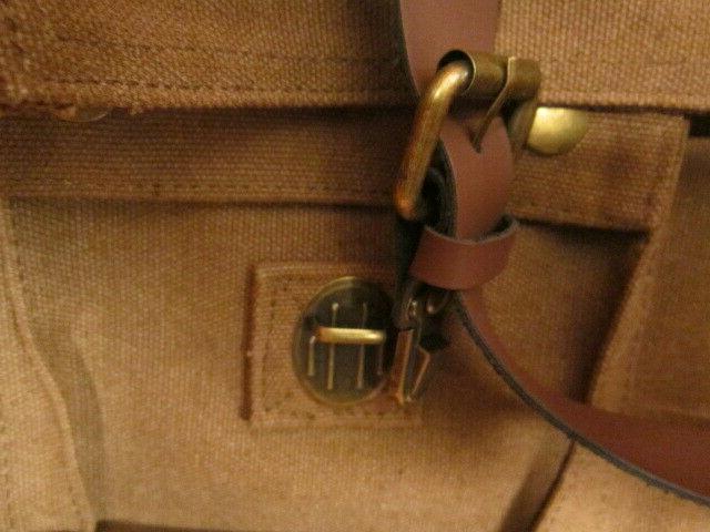 Sweetbriar Bag Briefcase Brown Canvas Leather Shoulder Strap