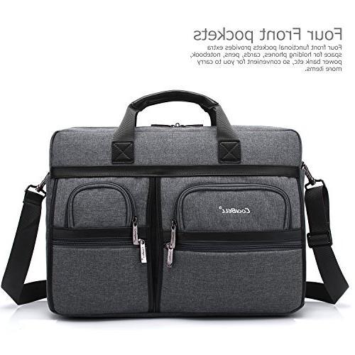 CoolBELL 17.3 Inch Messenger Shoulder Bag/Multi-functional Laptop/Ultrabook Tablet/Macbook / Dell/HP / Acer/Men/Women