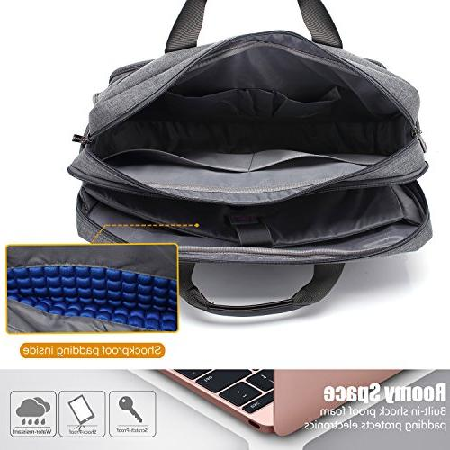 CoolBELL 17.3 Laptop Messenger Bag/Durable Briefcase/Nylon Shoulder Bag/Multi-functional Hand Laptop/Ultrabook / / Dell/HP Acer/Men/Women