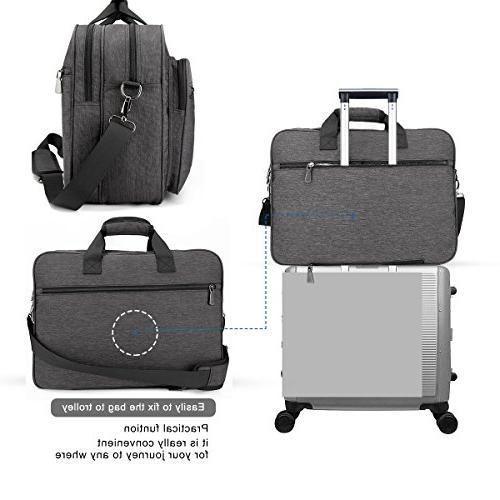 Tocode Laptop 17.3 Tote Business Briefcase, Shoulder for Men &