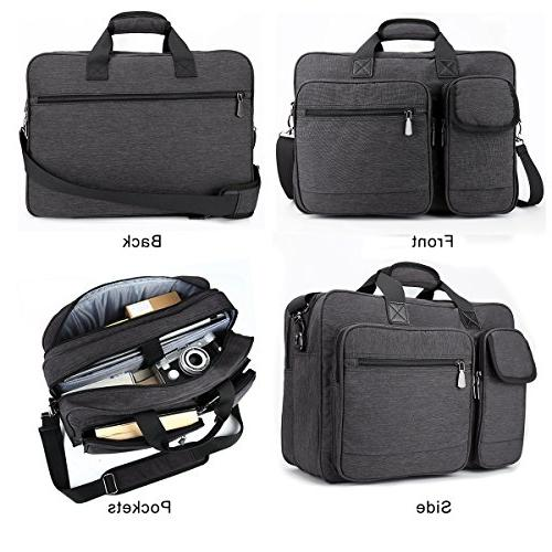 Tocode Laptop Bag 17.3 Multi-Functional Tote Business Padded Shoulder for