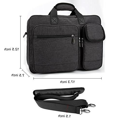 17.3 inch Multi-Functional Protective Tote Business Briefcase, Shoulder Handbag