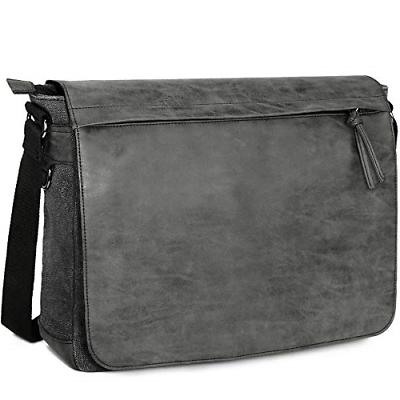 "Laptop Messenger Bags 15.6"" Shoulder Tocode PU Leather Can"