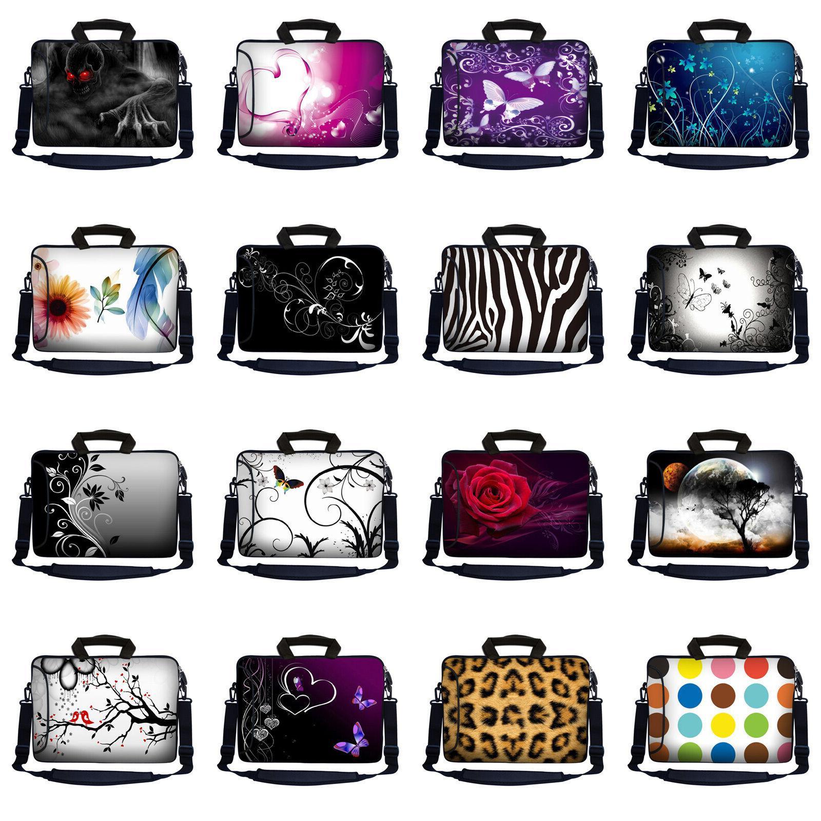 Laptop Notebook Case Computer Bag Pocket Strap