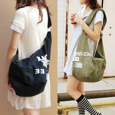 1pc Women's Cotton Canvas Bag Sling Hobo Messenger tote Cros