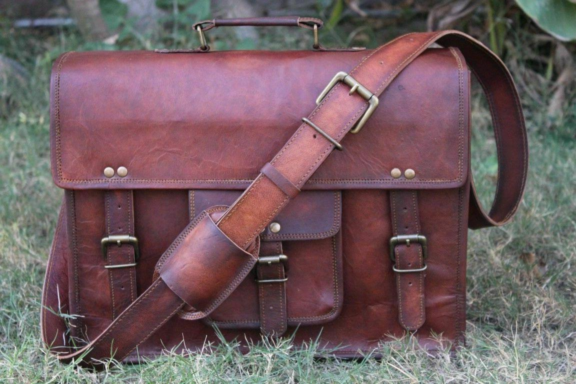 Large Brown Leather Shoulder