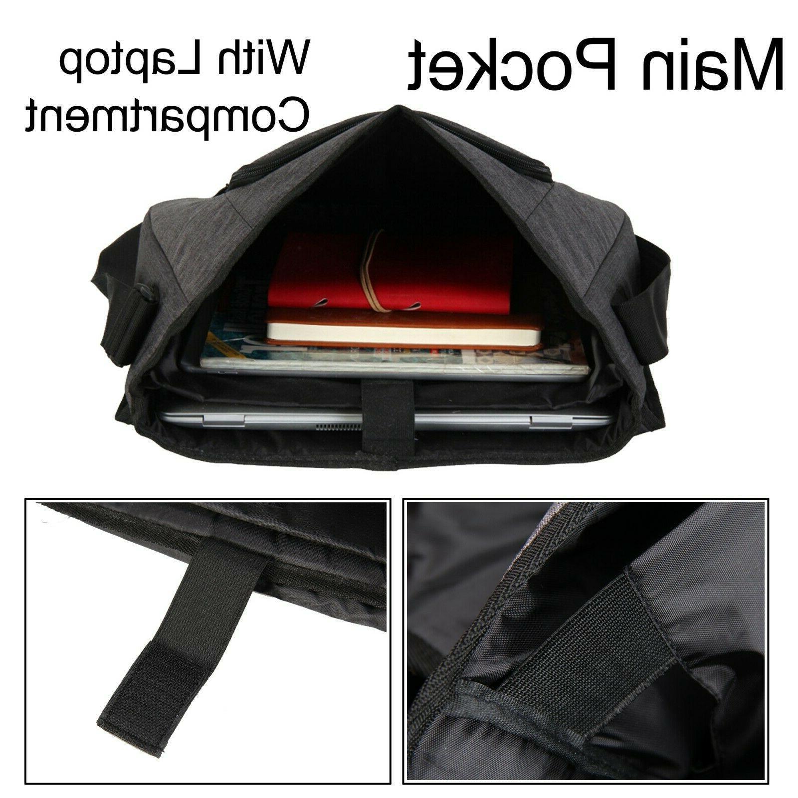 Large New Bag Men's Briefcase Work Shoulder Laptop