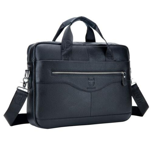 Leather Business Messenger Bag Briefcase Handbag Crossbody