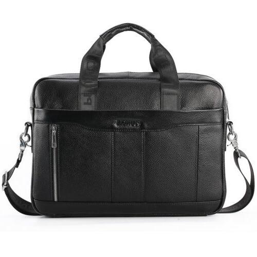 Leather Messenger Bag Laptop Briefcase Handbag Men Pack