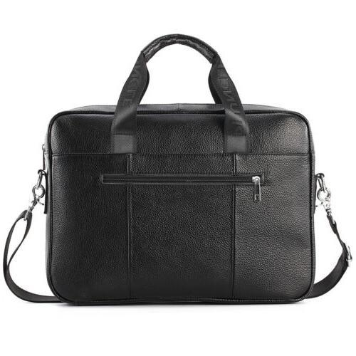 Leather Business Laptop Men Crossbody