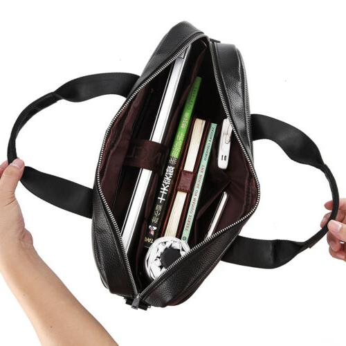 Leather Laptop Handbag Men