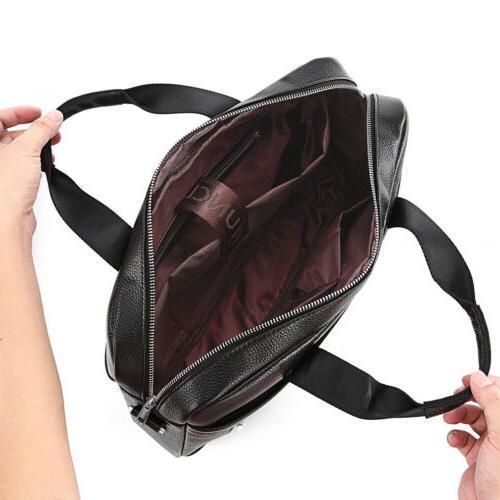 Leather Business Bag Laptop Men Crossbody