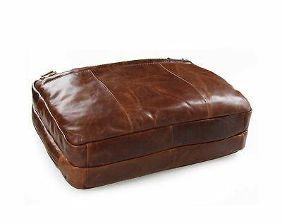 Berchirly Leather Laptop 15inch Oil Messenger Bag