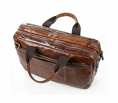 Berchirly Leather 15inch Waxed Oil Messenger