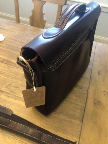 """Berchirly Laptop Waxed Oil Shoulder Messenger Bag 15"""""""