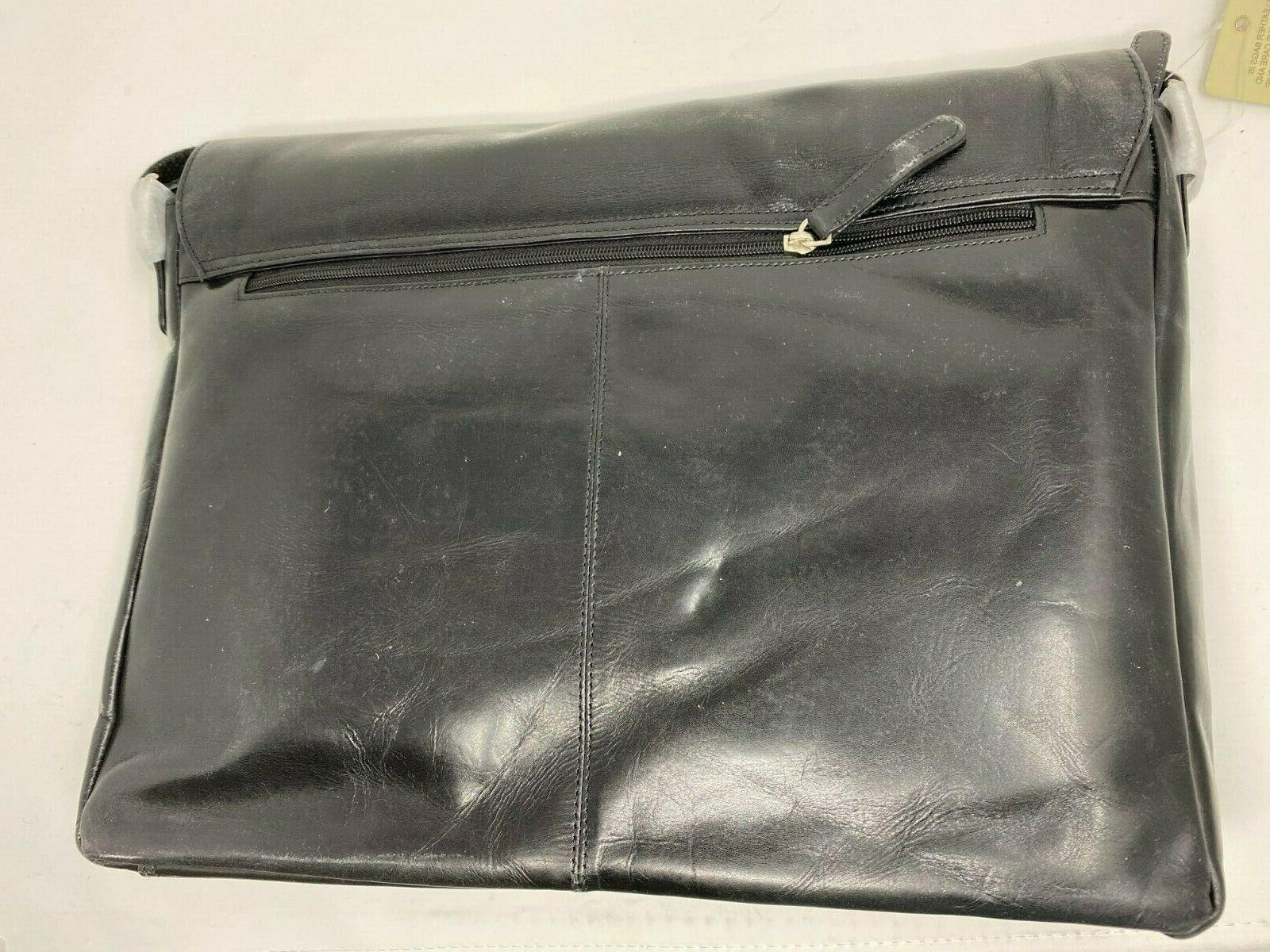 Leather Messenger Bag 16 Laptop Office Briefcase and Women