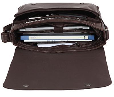 Banuce Leather Messenger Bag for Laptop Bags Crossbody Bookbag