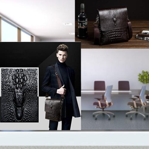 Leather Messenger Bag for Men Satchel Briefcase Shoulder Bags