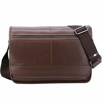 leather messenger bag for men vintage real