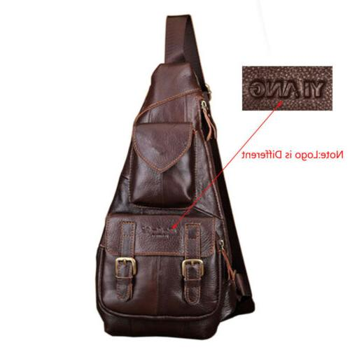 Leather Bag Backpack Chest Day Pack