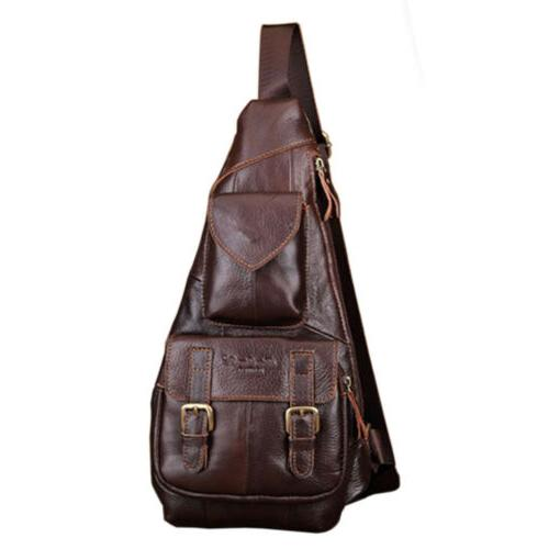 leather sling bag crossbody backpack for men