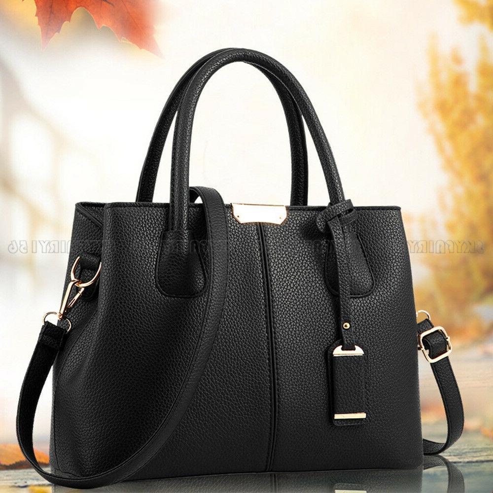 Leather Woman Tote Shoulder Bag Lady Satchel Purse