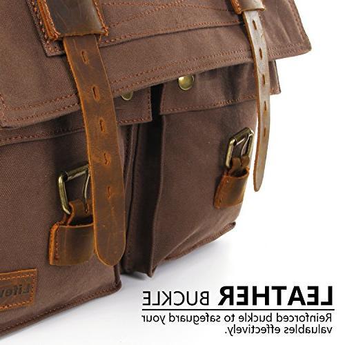 "Lifewit 17.3"" Men's Messenger Bag Vintage Military Bags"
