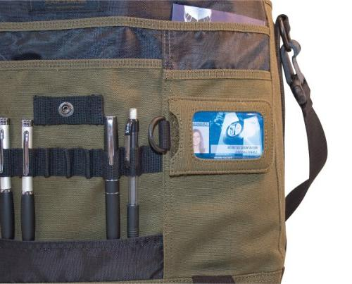 Mobile Eco-friendly Laptop Messenger - Holds 17.3 Screens Made From Olive Cotton