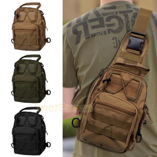 Men Tactical Sling Chest Bag Assault Pack Shoulder
