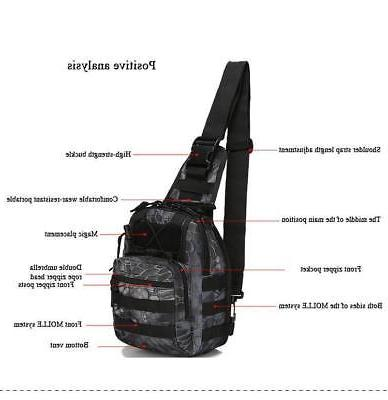 Men Molle Tactical Sling Chest Pack