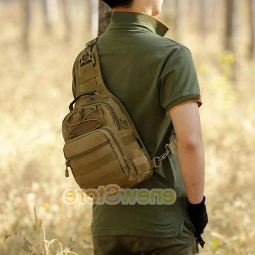 Men Sling Chest Bag Assault Pack Messenger