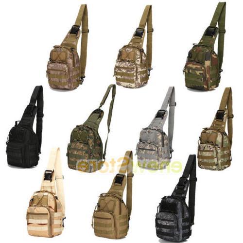 Men Backpack Molle Sling Assault Pack Messenger